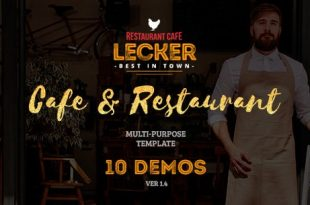 Download Free Lecker Restaurant – Cafe & Restaurant Template