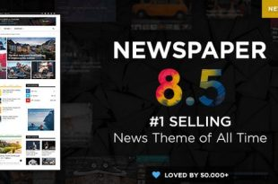 Download Free Newspaper v8.5 – WordPress News Theme
