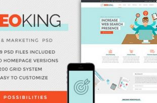 Marketing SEO & Digital Website PSD Template Download Free