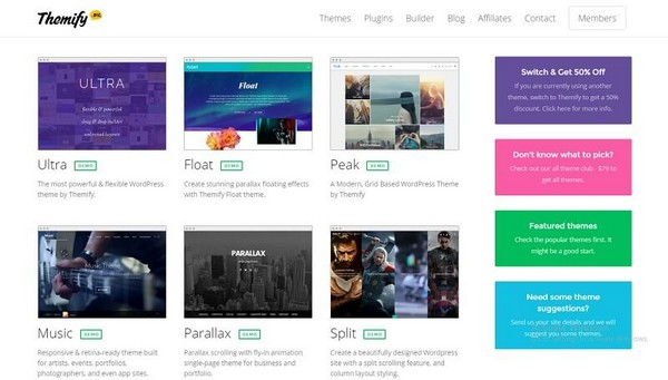 38 Themify Premium WordPress Themes Pack + Updates
