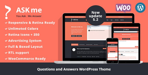 Ask Me V5.2 – Responsive Questions & Answers WordPress