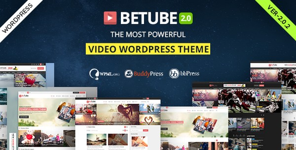 Betube v2.0.2 - Video WordPress Theme