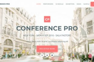 Download Free Conference Pro v2.0.8 WordPress Theme