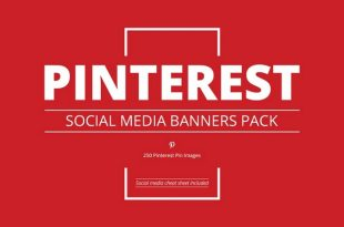 Download Pinterest Social Media Banners Pack Free
