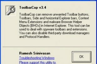 Download ToolbarCop 3.4 Free