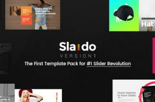 Slaido v2.0 – Template Pack for Slider Revolution