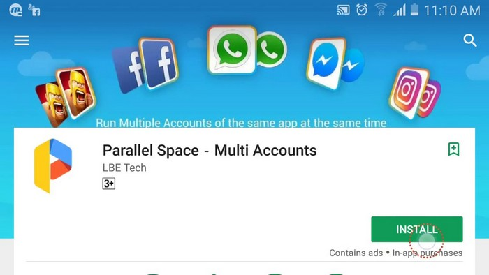 Download Parallel Space Multi Accounts App APK Free