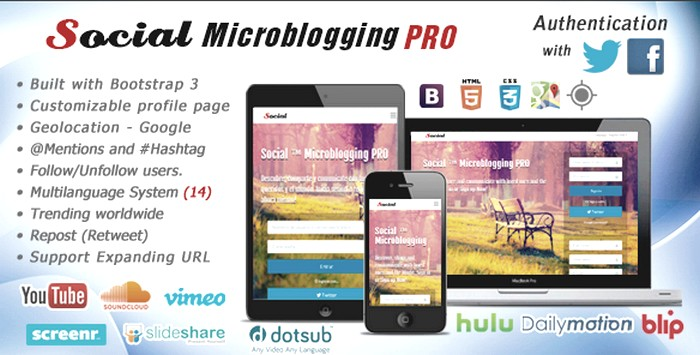 Social Microblogging PRO v1.7 Download Free