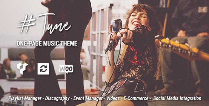 Tune - One-Page Music WordPress Theme Download
