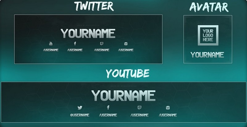 Youtube Graphics Maker – Youtube Template Pack