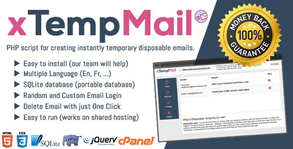 xTempMail – Temporary, Disposable Mail