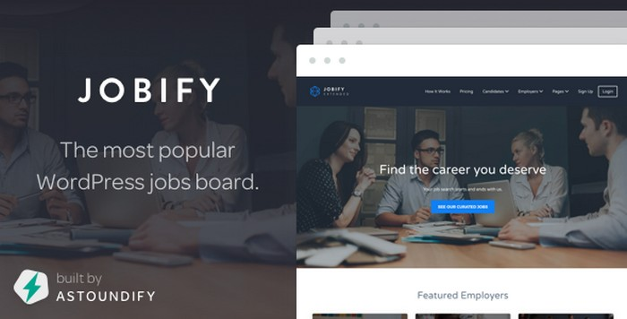 Download Jobify - Popular Job Board WordPress Theme