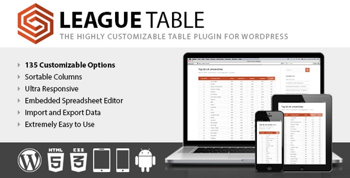 League Table v2.03 WordPress Plugin Download