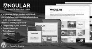 Angular - Responsive Portfolio WordPress Theme