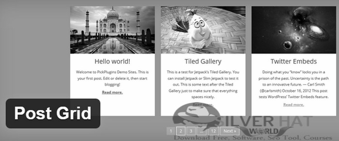 SilverHat Wide Post Grid Theme Download