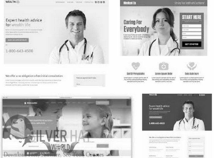 Silverhat Medical Landing Page Template Download